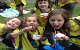 Girl Guides Strawberry Eating