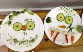 Vegetable faces