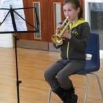 Trumpet playing