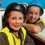 Smiling skaters